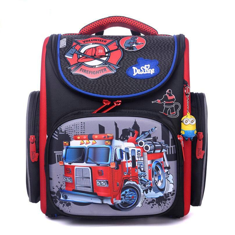 Российская марка delune мальчиков Автомобили Детские Ранцы ортопедические дети рюкзак mochilas escolares para menino ученики защитить позвоночник