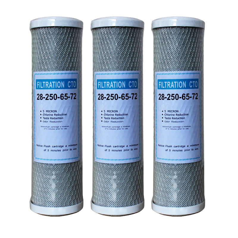 Water Filter Activated Carbon Cartridge Filter 10 Inch Cartridge Replacement Purifier CTO Block Carbon Filter Water Purifie