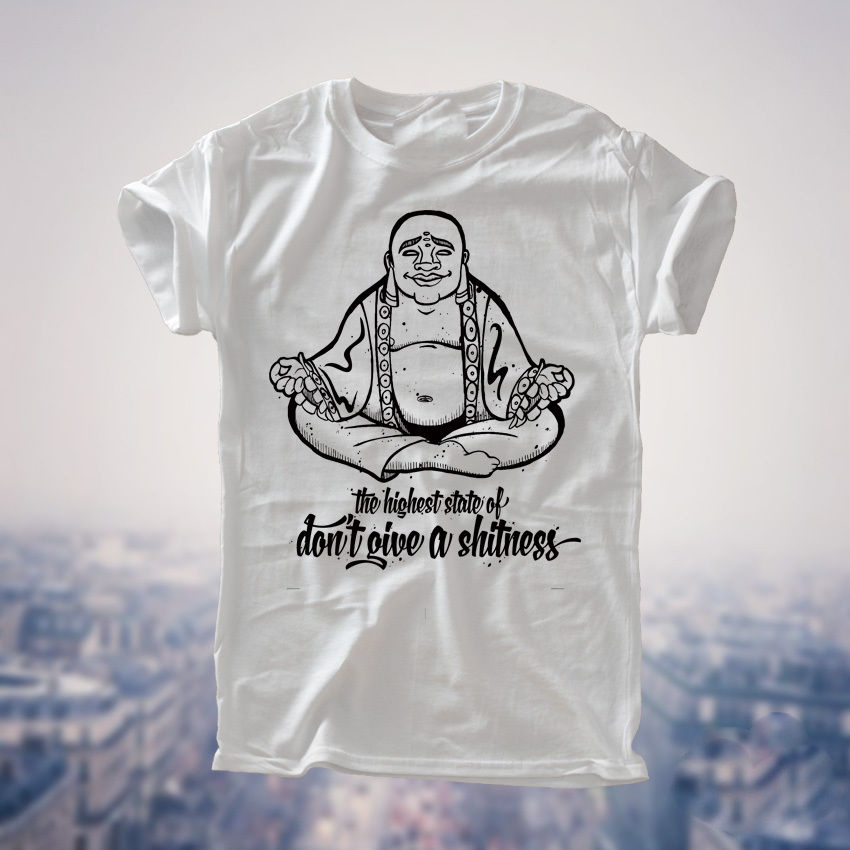 Buddhism Free The Mind Spiritual Meditation Yoga Buddhist T-Shirt Mens