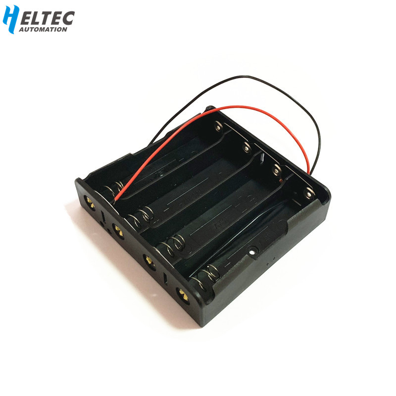 Black Plastic 4x 18650 Battery Storage Box Case 4S 18650 DIY Batteries Clip Holder Container With Wire Lead Pin In Parallel