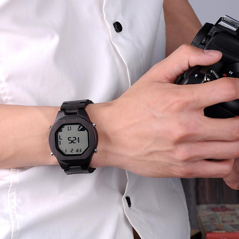 BOBO BIRD LED reloj de pulsera digital Relojes deportivos para hombre - Relojes para hombres - foto 5