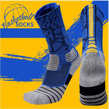 Men thicken cotton knee-high terry cushion custom breathable non-slip Professional basketball elite sports compression socks