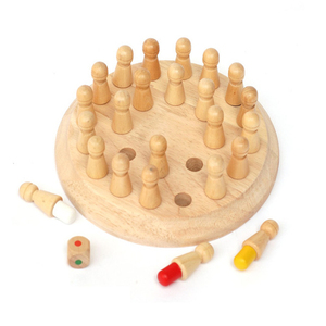 Image 2 - เด็กหน่วยความจำไม้จับคู่เกมหมากรุกบล็อกสนุกเกมการศึกษาสีCognitive Abilityของเล่นเด็ก