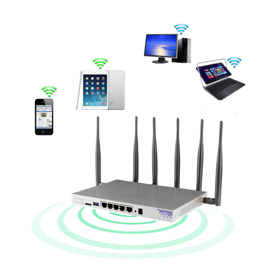 Gigabit Router 4g Lte Wireless Wifi Access Point Sim Card Modem 1200m Usb 3.0 SATA 3.0 Dual Band 5 Ghz With 6 Removable Antenna