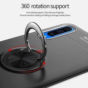 Image 4 - 電話ケース A50 A70 ケース Luxurry 磁気車リングソフトシリコンカバー Funda 用銀河 A30 A40 を 50 ケース Capa