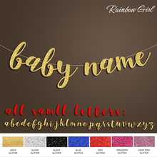 Baby with Personalized Name Banner,Boy or Girl Birthday Party Decor,Baby Shower Announcement Gold Glitter Decorations Supplies