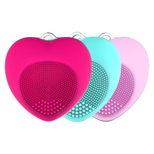 Mini Heart Cleanser Waterproof Electric Facial Cleaning Brush Massage Machine Silicone Cleansing Devices Tools