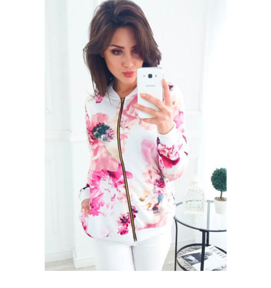 HTB1mSniTbrpK1RjSZTEq6AWAVXak Plus Size Printed Bomber Jacket Women Pockets Zipper Long Sleeve Coat Female Flower Chiffon White Jacket Woman Spring 2019