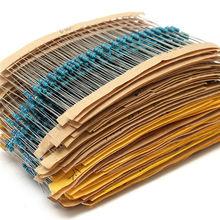 New 2600pcs 130 Values 1/4W 0.25W 1% Metal Film Resistors Assorted Pack Kit Set Lot Resistors Assortment Kits Fixed capacitors