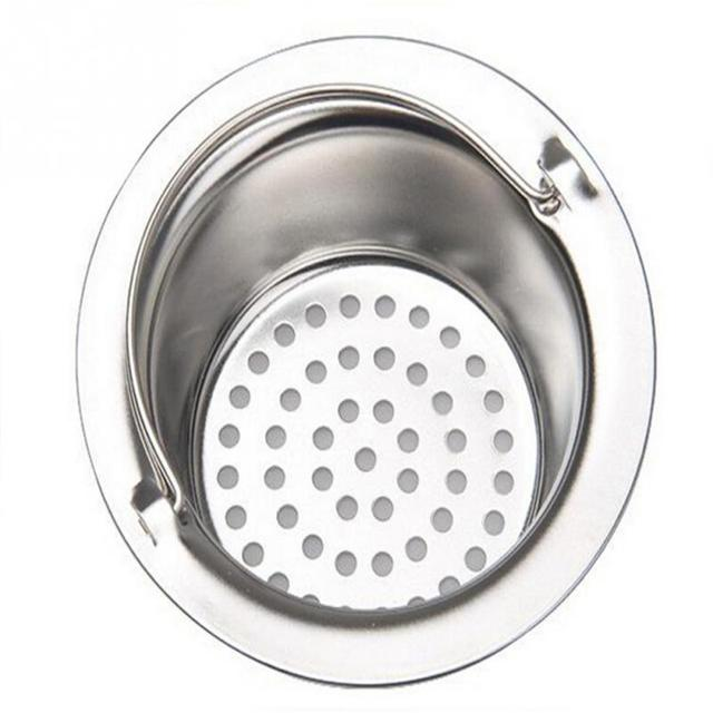 Stainless Steel Kitchen Sink Filter Round Floor Drain Sewer Drain ...