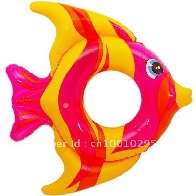 freeshiping intex 59216 child kid baby children's inflatable float swim swimming bathing ring circle tropical fish 3-6 years old