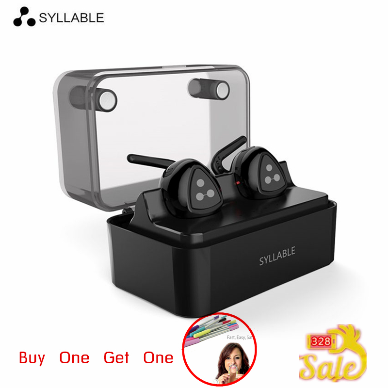 Syllable D900 MINI D900S Updated Version Stereo Bluetooth D900MINI Earphone Headset Wireless Earbuds for iPhone 7 for Samsung