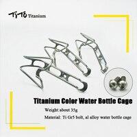 טיטו אופני הרי סגסוגת אלומיניום אופניים לשתות בקבוק מים בעל מתלה כלוב בקבוק מים אופני אביזרי ברגי סגסוגת טיטניום