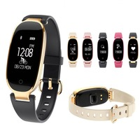 Bluetooth Waterproof S3 Smart Watch Fashion Women Ladies Fitness Tracker Heart Rate Monitor Smartwatch for Android IOS