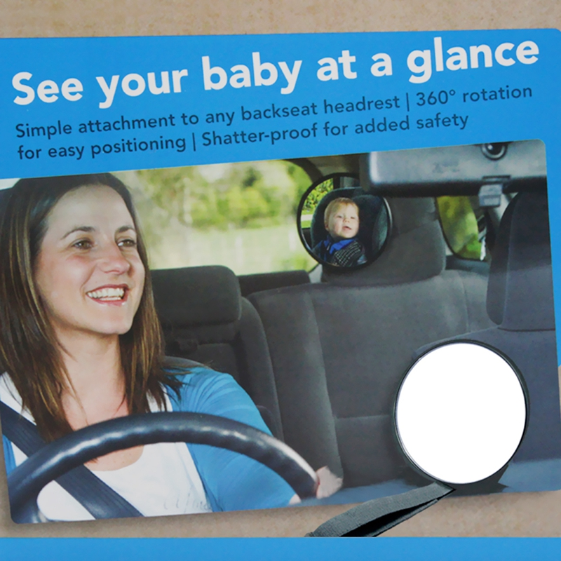 1x Baby Car Mirror Safety Easy View Back Seat Rear Facing Ward Child Infant Care