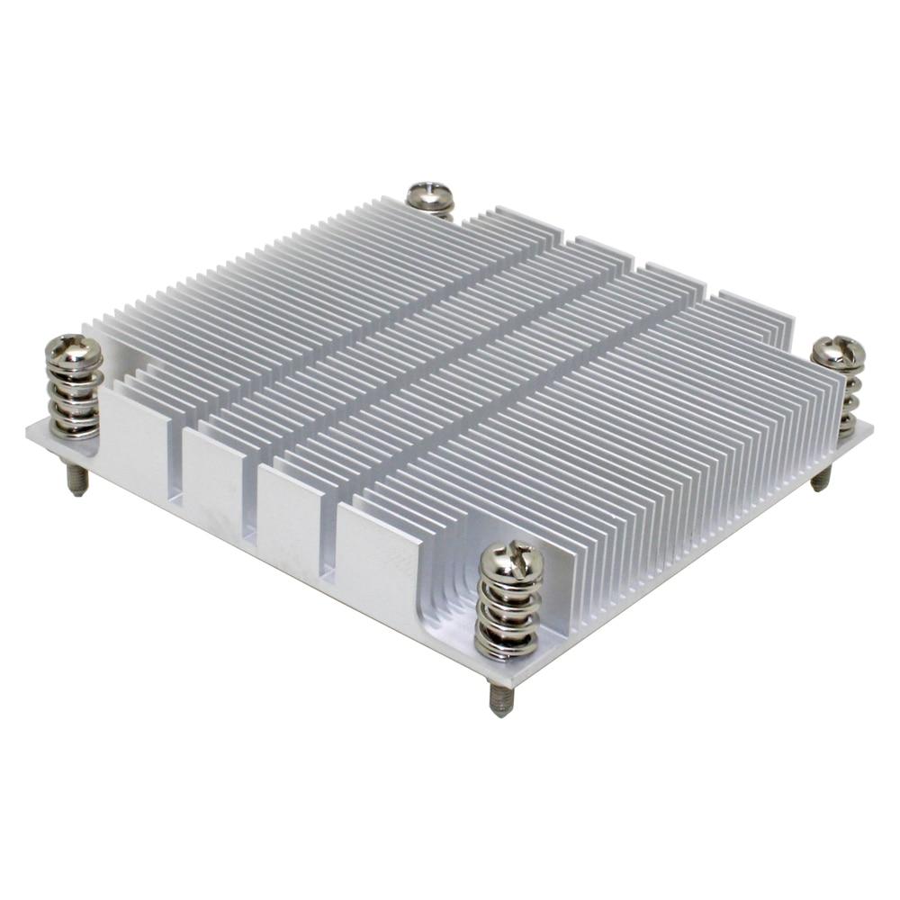 2019 new 1U server CPU cooler radiator aluminum heatsink for Intel 1150 1155 1156 i3 i5 i7 Passive cooling(China)