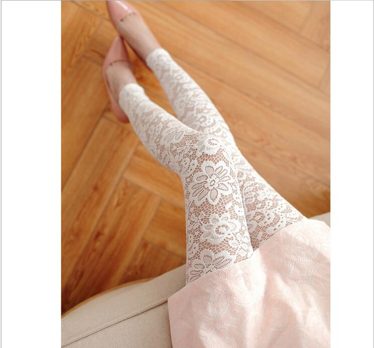 New 2016 Lace   Legging   Summer Sexy Was Thin Full Lace Nine Points Leggins Legins Floral Hollow Out Lace   Leggings   Hot Sale BH839