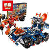 704Pcs LEPIN 14022 Nexo Knights Axl Axls Tower Carrier Combination Marvel Building Blocks Kits Toys Compatible