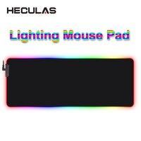 HECULAS игровой Мышь Pad светодиодное освещение RGB 7 красочный Коврик для мыши коврик 25x35 см 35x75 см