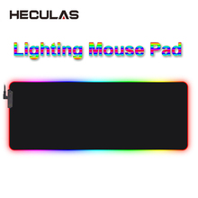 HECULAS Gaming Mouse Pad RGB LED Lighting 7 Colorful Mousepad Mouse Mat 25x35cm 35x75cm