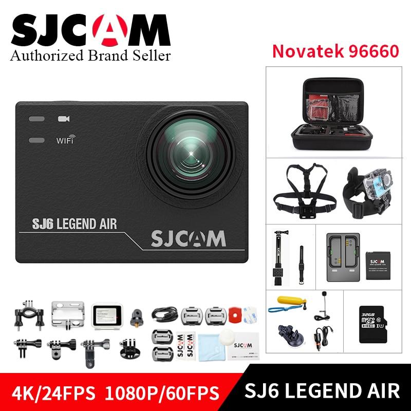 Original SJCAM Sj6 Legend AIR Wifi action camera 4K 14MP 2.0 Touch Screen 30M Waterproof Remote Sports DV kamera camcorder DVR
