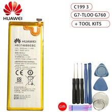 Original Hua Wei Battery HB3748B8EBC for Huawei Ascend G7 G7-TL100 C199 C199-CL00 3000mAh Best Quality Li-ion + Tools