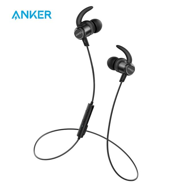 27f0c38700f [Upgraded]Anker SoundBuds Slim+ Wireless Earphones Bluetooth 4.1  Lightweight Stereo Earbuds AptX IPX5 Waterproof