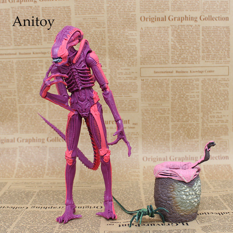 NECA ALIENS Red Alien with Chestburster & Facehugger PVC Action Figure Collectible Model Toy 4