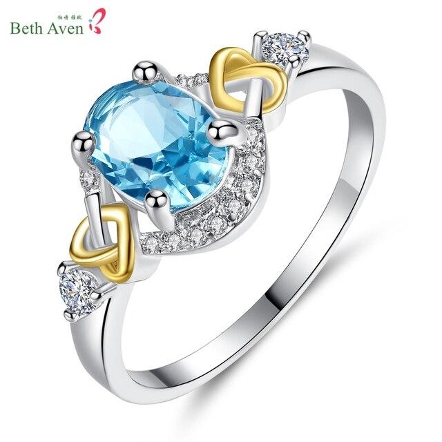ślub Kryształ Srebrny Kolor Pierścionki Zaręczynowe Serca Kolor