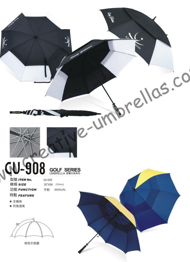 Free shipping by sea,double layers.14mm fiberglass shaft and ribs,golf umbrella,tower shape windproof,anti-static,ventilation
