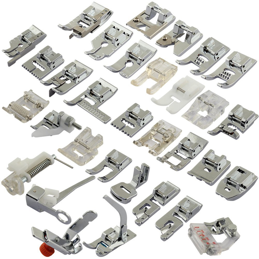 32pcs/set Sewing Machine Presser Foot Braiding Blind Stitch Darning Presser Feet Kit Set for Brother Singer Janome