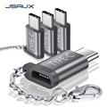 JSAUX USB Type C адаптер  4-Pack Алюминиевый USB C к Micro USB конвертировать разъем с брелоком зарядное устройство совместимо Samsung Galaxy S9