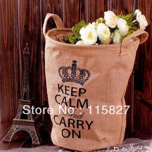 Min order$20(mixed item) England style carry on bag storage case linen storage bag desk organizer shopping bag