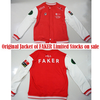 Limited STOCK Game LOL World Champion S6 Team SKT T1 Players Uniform Embroidery FAKER Fleece
