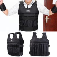 20kg Adjustable Workout Training Body Weight Vest Jacket Fitness Exercise Waistcoat Weighted Vest