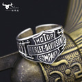 Fashion popular vintage punk personality male accessories personalized finger ring 925 silver thai silver open ring