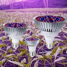 Grow Light Led Full Spectrum E27 Plant Bulb Tent 220V Fito Lamp 30W 50W 80W Indoor Seedling 110V UV IR