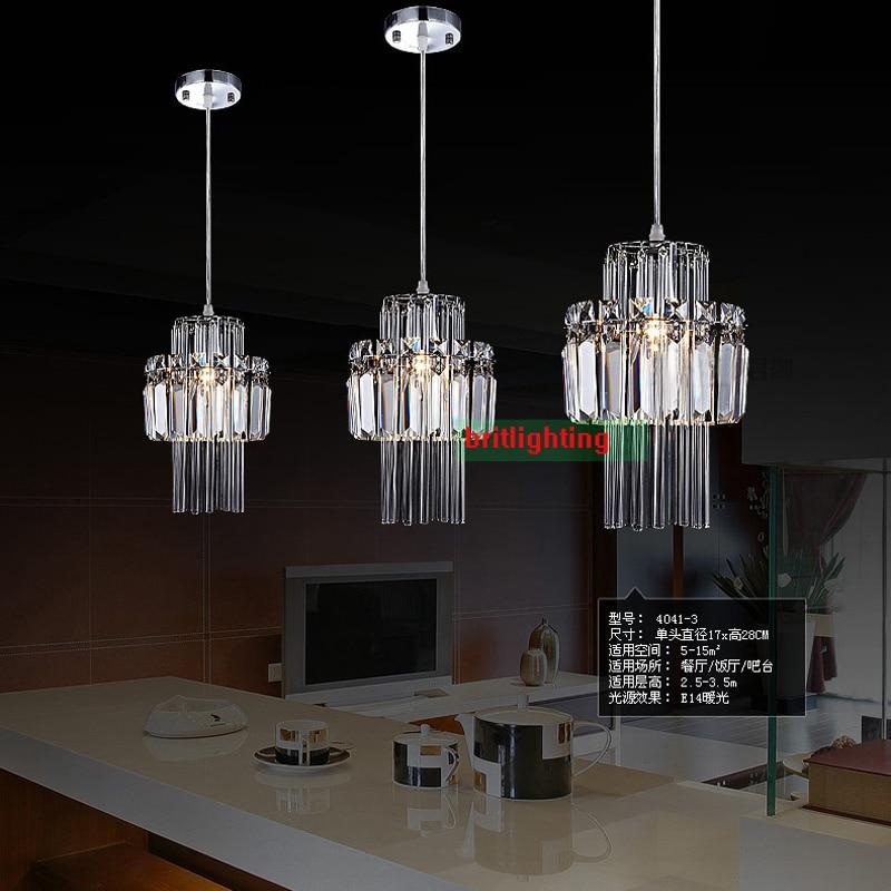 Us 63 75 15 Off Crystal Pendant Lamp Bar Light Kitchen Island Lighting Modern Hanging Lamps Lights For Living Room In