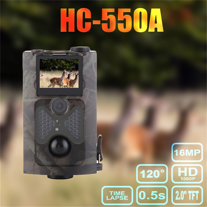 HC-550A Hunting Camera  HD 1080P PIR Sensor Multi Zone Trap Game Wildlife Trail Cameras  Automatic monitoring  Surveillance