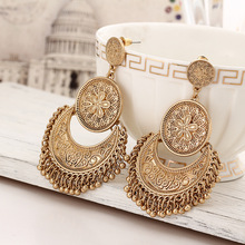 Big Dangle Earrings for Women Flower Drop Earring Long Bohemia Beads Tassel Statement Charm Ethnic Jewelry Accessories Eardrop