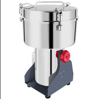 220V Commercial Electric 3500g Coffee Herb Grain Dry Grinder Machine Multifunctional Powder Miller Big Capacity Household Grinde