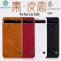 LG V20 Için orijinal Nillkin Durumda Lüks Qin Deri Çevirme görünüm Penceresi Uyku Wake Akıllı Telefon Kapak Için LG V20 cilt