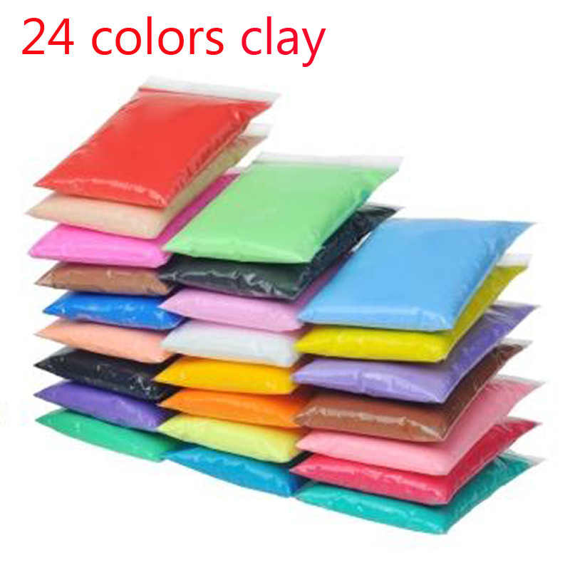 Hot sale Slime 24 Colors Soft Playdough Children Learning Polymer Clay light clay intelligent plasticine toy kids gift