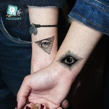 Traditional Black Temporary Tattoo Sticker Waterproof Fake Temporary Body Tattoo Sticker Cat Fox Eyes Skull Tattoo