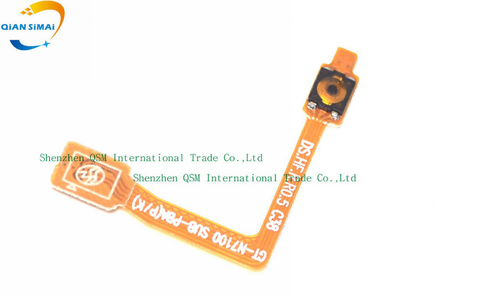 QiAN SiMAi For Samsung Galaxy Note 2 GT-N7100 N7105 I317 T889 I605 L900 R950 E250 Power On/off Button Flex Cable
