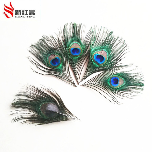 2017 true feathers trimmed peacock eye sewing wedding christmas decorations 12 16cm 50 bag