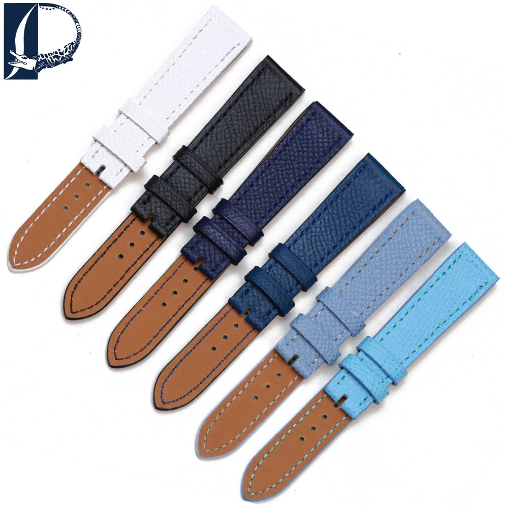 Pesno Genuine Leather Wriststraps Suitable For Hermes H Hour Watch Smooth Texture Band Strap Watchband Watchstraps