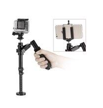 2016ใหม่การกระทำกล้องโลหะกล้องกีฬาg oproมือถือS Teadicam S Tabilizerวิดีโอด้วยคลิปs teadycamสำหรับgo proและโทรศัพท์