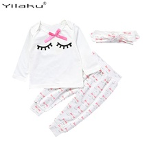 Malayu Baby kids clothes girl long rabbit sleeve cotton