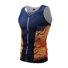 Naruto 3D print vest men's Uzumaki Breathable quick-drying sweat men's fitness clothing Free shipping 2018hot sale